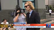 Teenager Extinguishes Brisbane ANZAC Square Eternal Flame